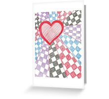 Checkered Love Greeting Card