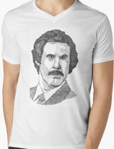 Ron Burgundy (Will Ferrell) Mens V-Neck T-Shirt
