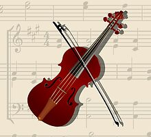 Bow and violin by Richard Laschon