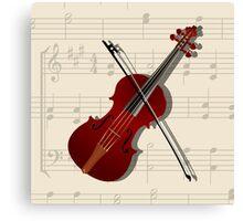 Bow and violin Canvas Print