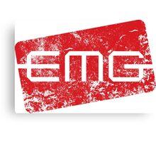 EMG Pickups distressed logo Canvas Print
