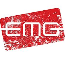 EMG Pickups distressed logo Photographic Print