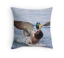 Happy Landing Throw Pillow