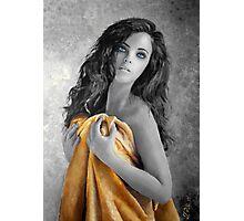 Girl with yellow robe Photographic Print