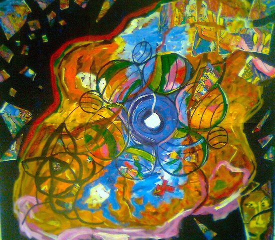 """MOE 2...""""Museum of Everything"""" For Exhibit.. """"Oscillations 2""""  by Dante  xx by tim norman"""