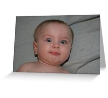 Funny Faced Baby Girl Greeting Card