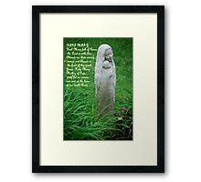 Hail Mary.... Framed Print