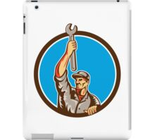Mechanic Raising Up Spanner Circle Retro iPad Case/Skin