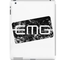 EMG Pickups distressed logo Black iPad Case/Skin
