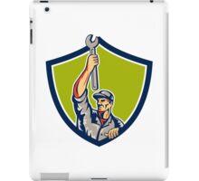 Mechanic Raising Up Spanner Wrench Shield Retro iPad Case/Skin