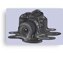 Camera Melt Canvas Print