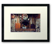 Cottage Hearth Framed Print
