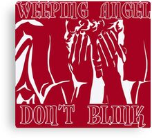 Weeping Angel Don't Blink Doctor Who Canvas Print