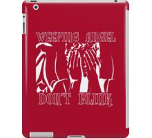 Weeping Angel Don't Blink Doctor Who iPad Case/Skin