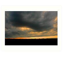 Sunset in Brockville, Ontario Canada Art Print