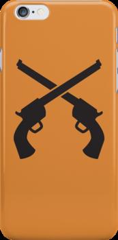 Gunslinger Guns crossed by jazzydevil