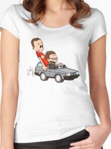 Leonard and Sheldon Women's Fitted Scoop T-Shirt