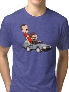 Leonard and Sheldon Tri-blend T-Shirt