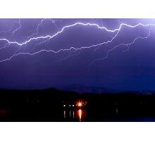 Cloud to Cloud Lightning Storm Photographic Print