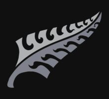 New jagged trendy Silver fern New Zealand symbol by jazzydevil
