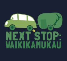 NEXT STOP: Waikikamukau funny fake Kiwi New Zealand travel destination Kids Clothes
