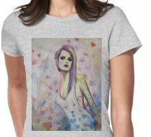 Bridgets Electric Iris Womens Fitted T-Shirt