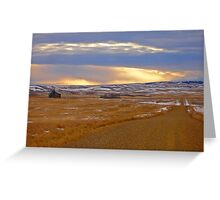 Warm Front on the Prairies Greeting Card