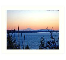 Mount Baker Sunset Silhouette Art Print
