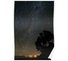 Stary night at Newdicks beach Poster