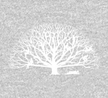 Tree Dwelling White Silhouette One Piece - Short Sleeve