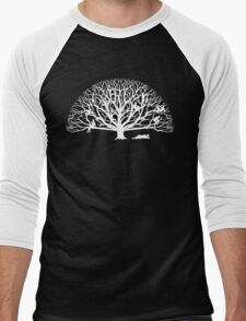 Tree Dwelling White Silhouette Men's Baseball ¾ T-Shirt