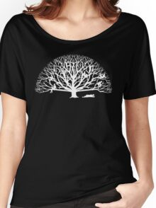 Tree Dwelling White Silhouette Women's Relaxed Fit T-Shirt