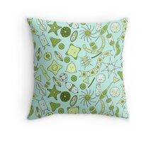 SQUARE for pillows, travel mugs, etc: Yet more diatoms! Throw Pillow