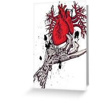 heart in my hand Greeting Card