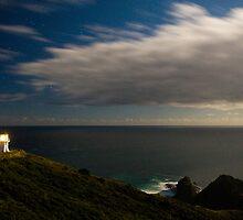 Cape Reinga at night by Paul Mercer