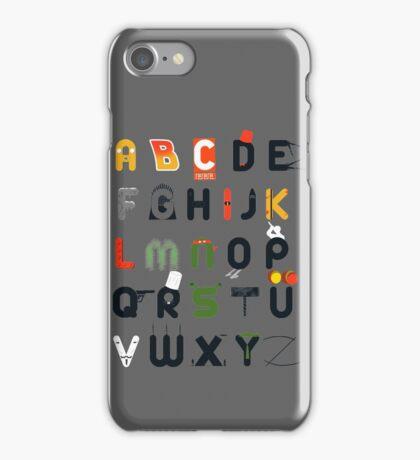 Pop culture alphabet iPhone Case/Skin