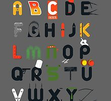 Pop culture alphabet by Coconutman