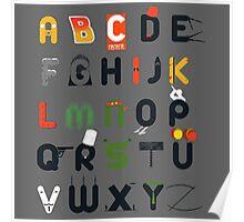 Pop culture alphabet Poster