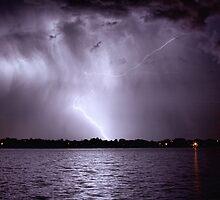 Lake Lightning Sky by Bo Insogna
