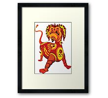 Funny Dragon Design T-Shirt Framed Print