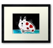 Flat Cat Framed Print
