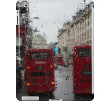 London - It's Raining Again But Riding the Double-Decker Buses is Fun! iPad Case/Skin