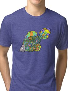 Psychedelic Fish Tri-blend T-Shirt