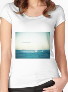 Sail Away With Me Women's Fitted Scoop T-Shirt