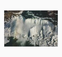 Aerial View of Niagara Falls with Snow and Ice One Piece - Long Sleeve