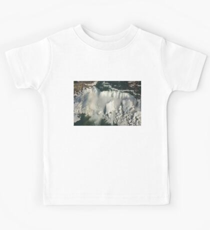 Aerial View of Niagara Falls with Snow and Ice Kids Tee