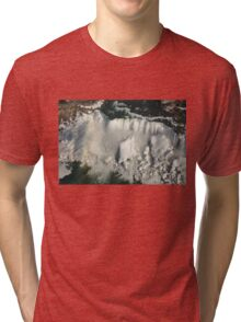 Aerial View of Niagara Falls with Snow and Ice Tri-blend T-Shirt