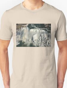 Aerial View of Niagara Falls with Snow and Ice T-Shirt