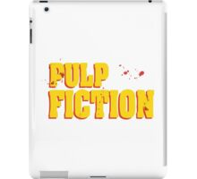 pulp fiction bloody font iPad Case/Skin