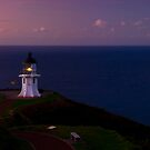 Cape Reinga lighthouse at dusk by Paul Mercer